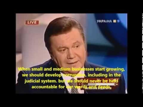 Viktor Yanukovich, the dumbest president ever, English subtitles.