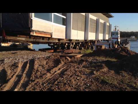 Part 3 of building going to Manly Yacht Squadron by barge