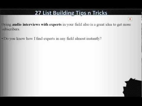 List building tips and tricks