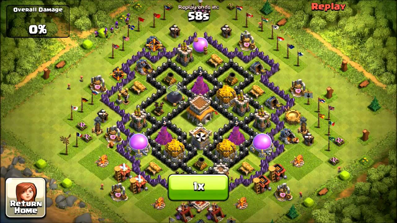 Coc th8 defense layout