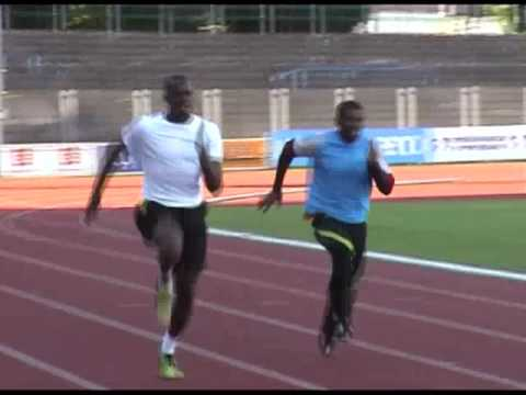 Usain Bolt - first training