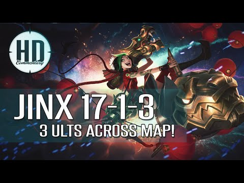 Jinx ADC Plays! - Full Gameplay Guide / Analysis - Diamond 4 League of Legends