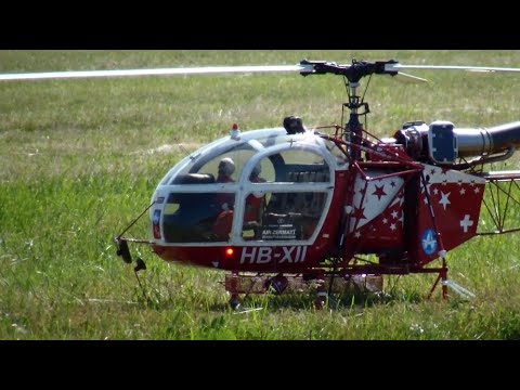 Exactly scale SA 315B Lama turbine R/C Helicopter Air Zermatt