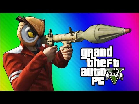 GTA 5 PC Online Funny Moments - Action Replay, Slow Motion, Highway Stunt!