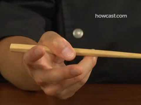 "How to Use Chopsticks, The video of ""Howcast"" showing how to correctly use chopstics."