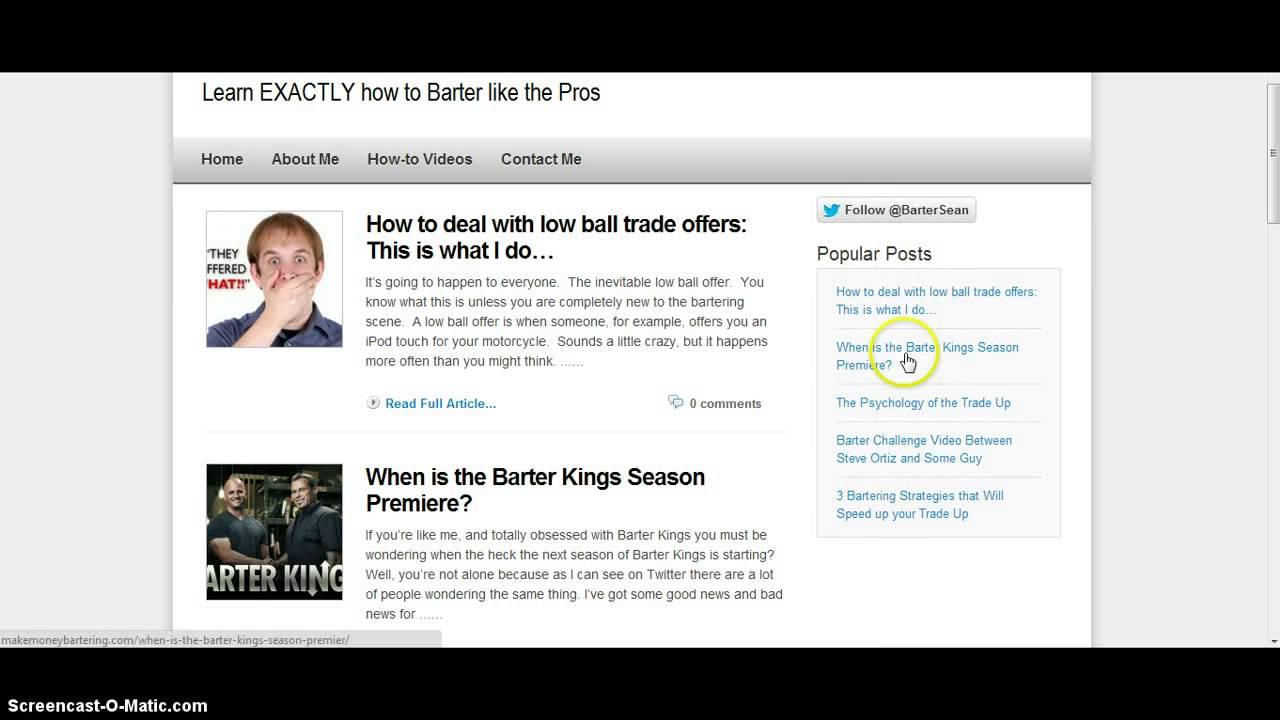 How to barter on craigslist new blog giving free for Trading websites like craigslist
