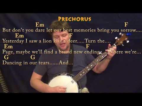 Lost Stars (Adam Levine) Banjo Cover Lesson in C with Chords/Lyrics