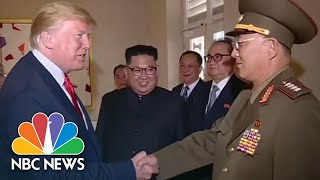 President Donald Trump Salutes North Korean General In State Media Footage | NBC News