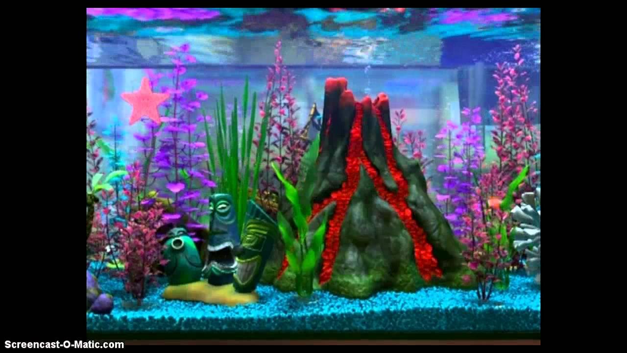 Fish tank aquarium decorating ideas - Nemo S Tiki Tank Aquarium Fish Tank Lava Volcano Tiki Statues