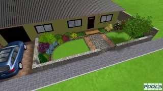 Záhrada okolo rodinného domu - Návrh