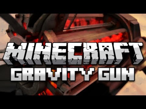 Minecraft: Gravity Gun Mod (With Chicken Bowling)