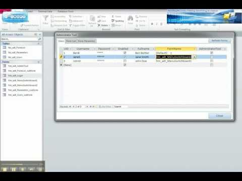 Microsoft Access Database Tutorial - User form Login Security Demo