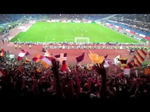 ROMA napoli 2-0 live Curva Sud VIDEO TIFO 18/10/13