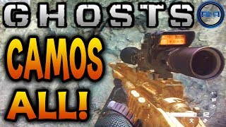 Call of Duty: Ghosts - ALL CAMOS! GOLD GUN CAMO & MORE! - (COD Ghost Weapons)