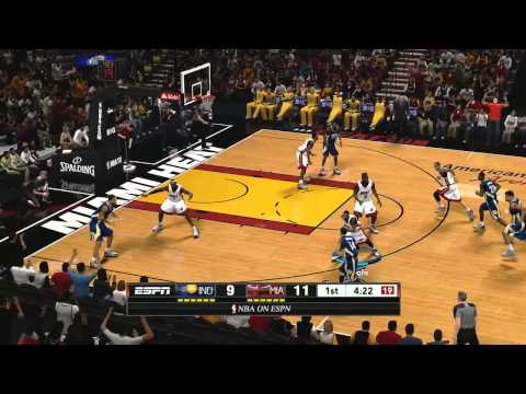 NBA 2K13 Indiana Pacers vs Miami Heat Game-play