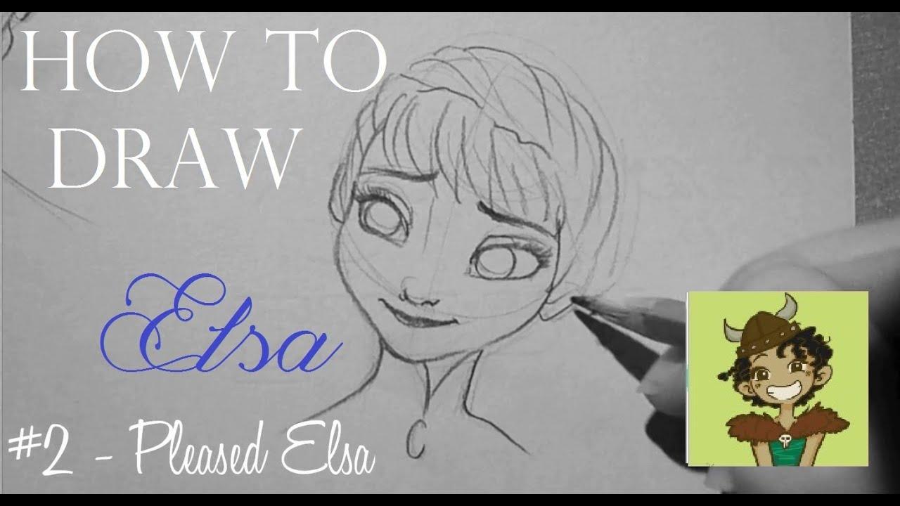 HOW TO DRAW Elsa - paper Sketches (Frozen/La Reine des Neiges ...