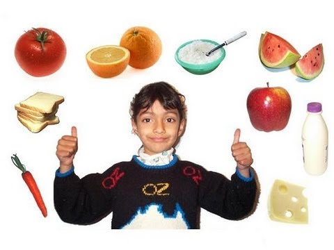 Learn the Healthy and Unhealthy Foods for Kids! (with voice)