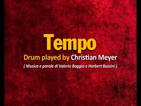 Tempo - CreGrest2011 - Drum played by Christian Meyer (Valerio Baggio - Herbert Bussini)