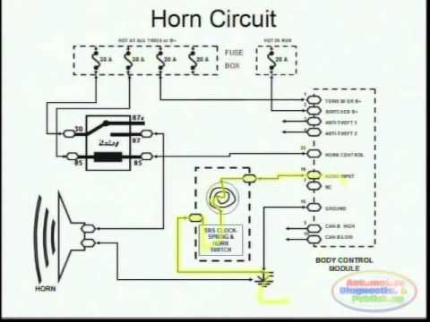 Horns Amp Wiring Diagram Youtube