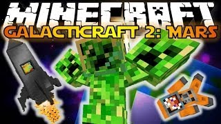 Minecraft: Galacticraft 2: Mars 3 Headed Creeper Boss