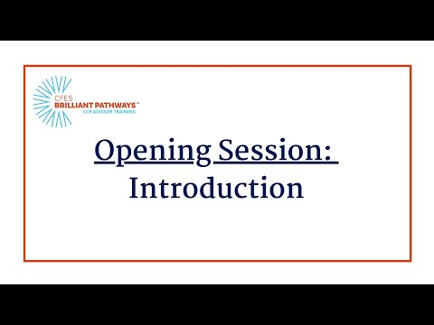 January CCR: Opening Session  1-21-21