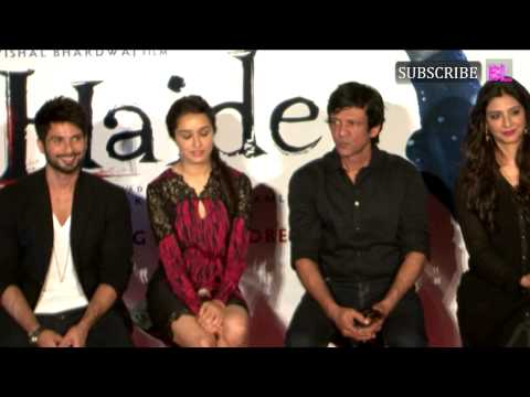 Shahid Kapoor And Shraddha Kapoor At Trailer Launch Of Movie Haider Part 4