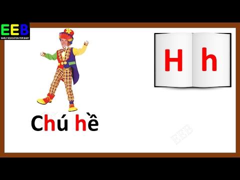 Dạy bé tập đọc bảng chữ cái tiếng Việt| Bé học bảng chữ cái tiếng việt| Giáo dục sớm cho trẻ EEB