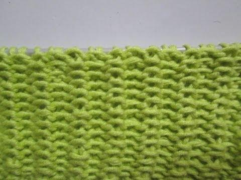Tuto tricot apprendre a tricoter le point tisse point de tricot fantaisie facile youtube - Point de cote tricot ...