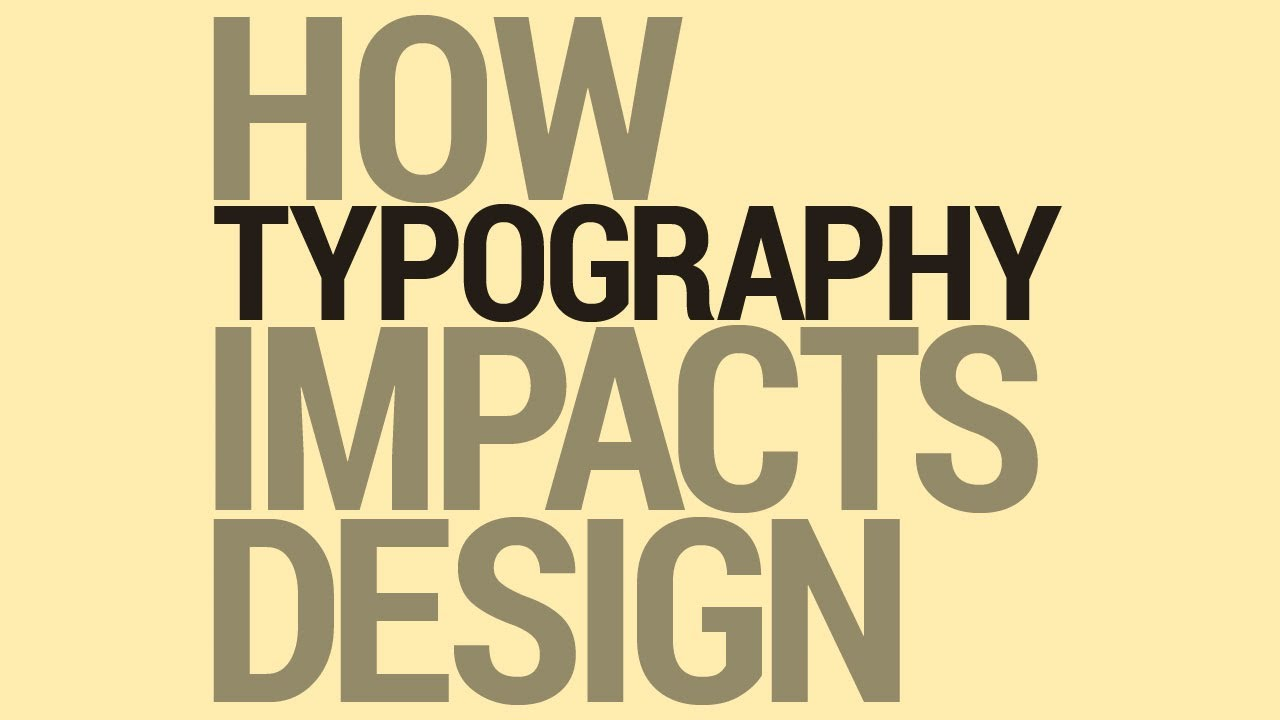 Graphic Design Tutorial: Typography and Design - YouTube