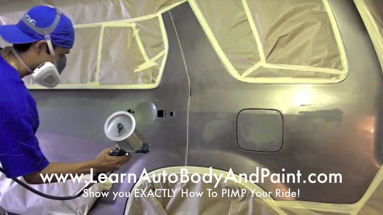 how to spray paint a car at home yourself affordable diy methods. Black Bedroom Furniture Sets. Home Design Ideas