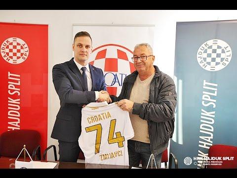 Predstavljena poslovno-sportska suradnja HNK Hajduk i NK Croatia Zmijavci