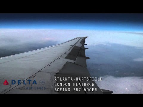 Delta DL84 Full Flight - Atlanta to London Heathrow (Boeing 767-400ER) with ATC
