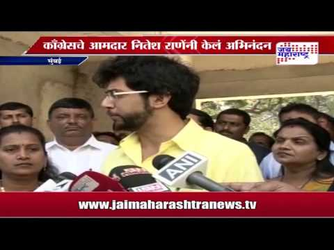 Nitesh rane on Aditya thackeray