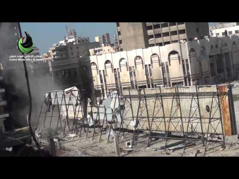 Syria||Homs||Mortar shelling on aid convoy 2-8-2014