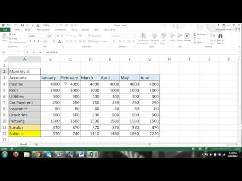 Microsoft Excel 2013 Tutorial For BEGINNERS #4 - The Basics