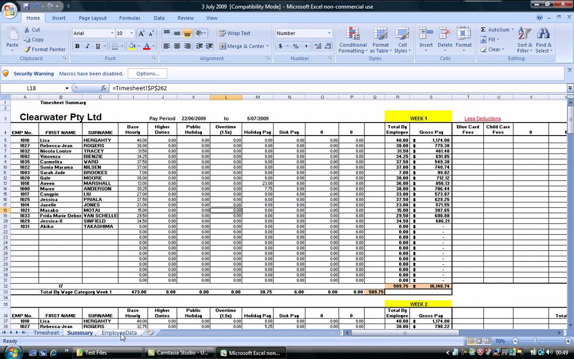 free payroll template .