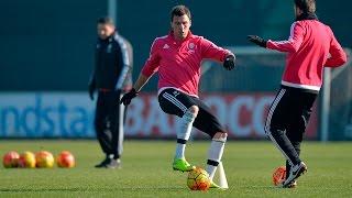 La Juventus al lavoro per la sfida con la Roma - Eyes on Roma at Juventus Center