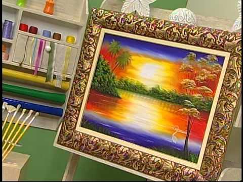 Programa Arte Brasil - 14/01/14 - Augusto Aguirras - Pintura em tela por do sol