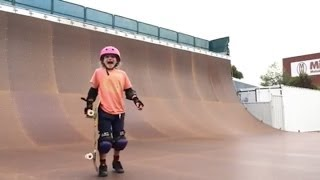 9 Year Old Girl Lands Her First 540 on a Skateboard