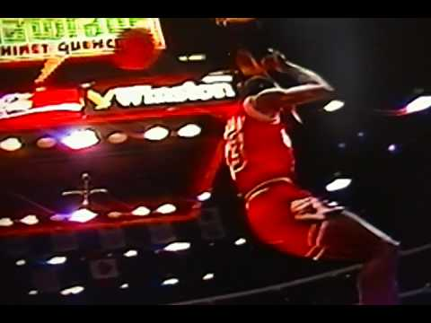 """Michael Jordan"" ""Slam Dunk Contest"" Slow Motion Dunks!"