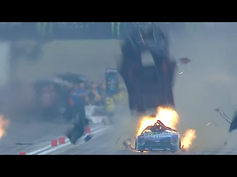 Tim Wilkerson blows the body off his Funny Car
