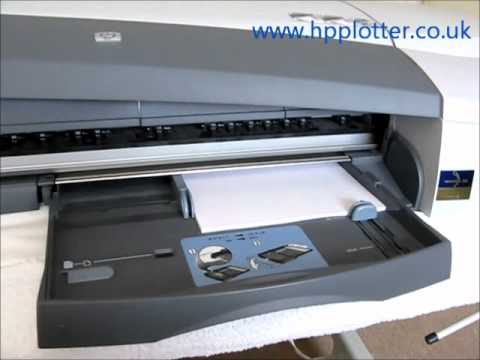 Designjet 100 - 130 Series - Print information page on your printer
