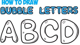 How to Draw Bubble Letters for Beginners A-Z Easy for Kids Step by Step Tutorial Simple