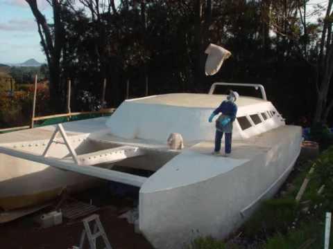 Homemade catamaran yoshi 48 - YouTube
