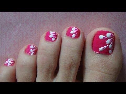 Nail Art For Beginners - Vẽ Móng Chân Hình Cánh Hoa Bằng Sợi Tóc | Yêu Làm Đẹp