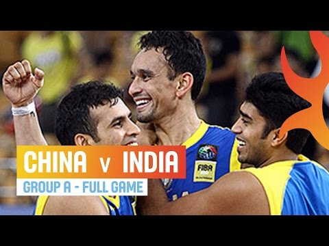 China v India - Group A - 2014 FIBA Asia Cup