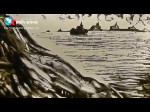 Tranh cát TỔ QUỐC NHÌN TỪ BIỂN   Nguyễn Việt Chiến   Lê Phong Giao Sand Art