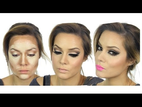 Kim Kardashian Inspired MakeUp Tutorial - Valentines Day MakeUp