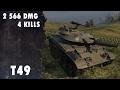 Replay WOT CZ l T49 2556 DMG 4 KILLS