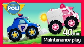 Maintenance Special play for Kids | 40min | Robocar Poli Game